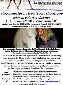 Flyer Atelier Etre Authentique février 2018 La Futaie
